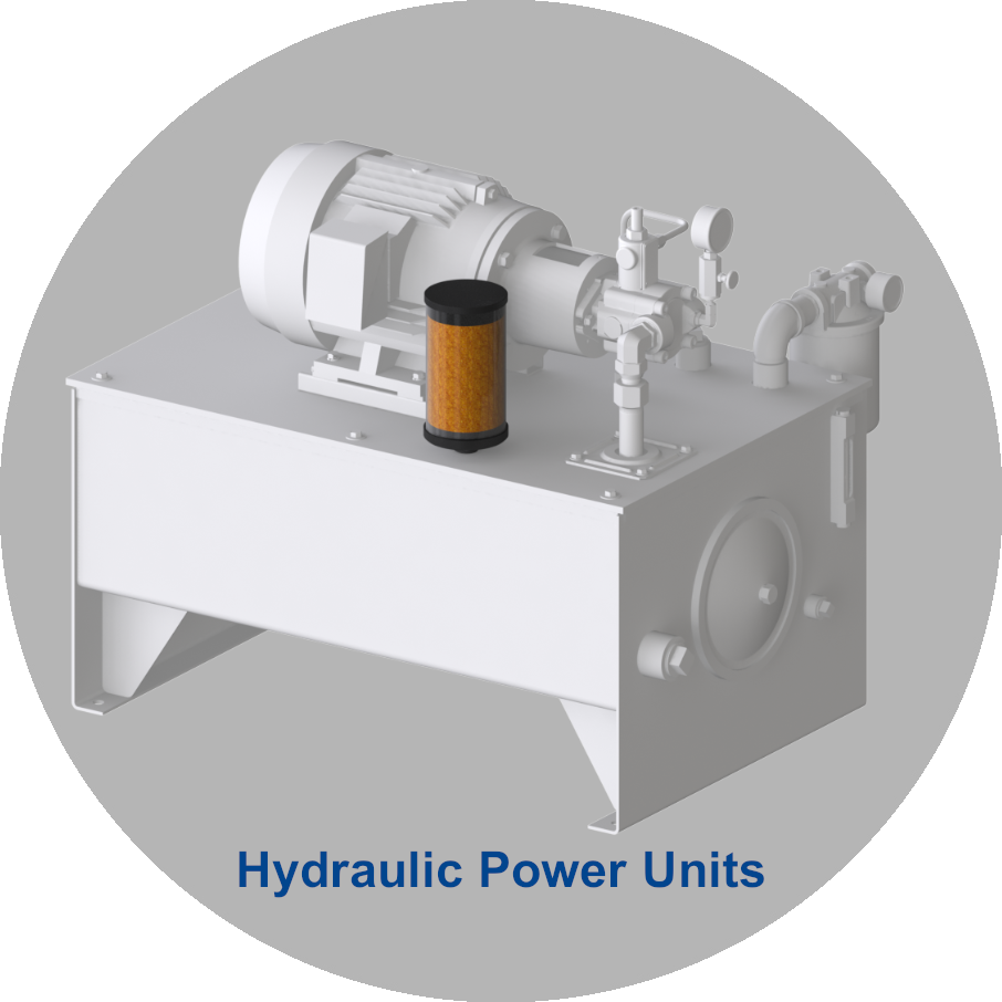 Adsorber for use in hydraulic power units
